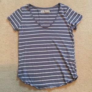 Blue/Gray Striped Tee